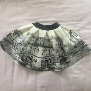 MonnaLisa Other - Ivory & Grey street print Skirt