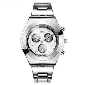 Silver Face Quartz  Movement Watch
