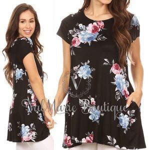 ‼️LAST - FLORAL TUNIC TOP