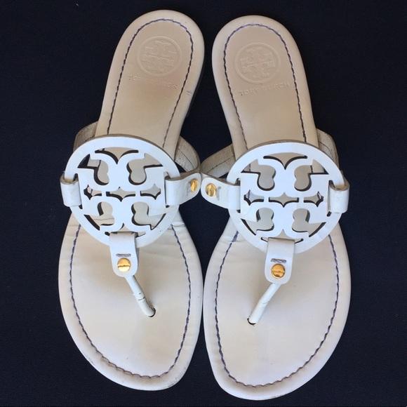 f900999e3fb1f Tory Burch Miller Patent Leather Flip Flop Sandals.  M 590b26e9c284565077025b47