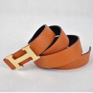 Hermes Accessories - Orange Hermés Reversible Belt