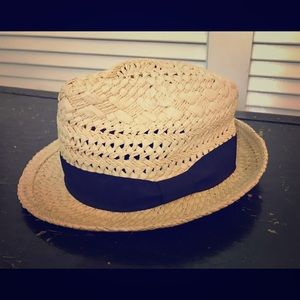 NWOT J. Crew Straw Fedora with Ribbon