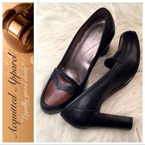 Tahari Shoes - [Tahari] Leather Serena Loafer Pumps Heels Shoes