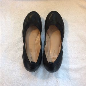 Banana Republic Black Leather Elastic Flats