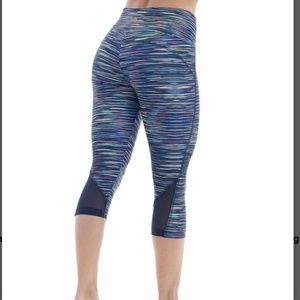Bally Total Fitness Pants - ■Bally■(8/10) Blue Capri Workout Leggings
