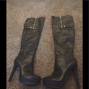 BCBGeneration Shoes - Women's BCBG Over the Knee Black Boots