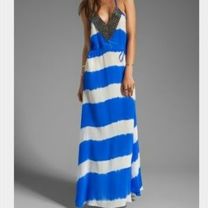 Karina Grimaldi Dresses & Skirts - Katrina Grimaldi Tie Dye Beaded Maxi Sky Dress