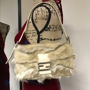 Fendi Handbags - FENDI FUR HANDBAG