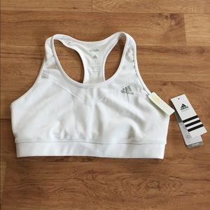 Adidas Other - New Adidas White Racerback Sport Bra Size M and L