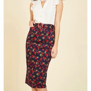 SALE Modcloth Rose Pencil Skirt