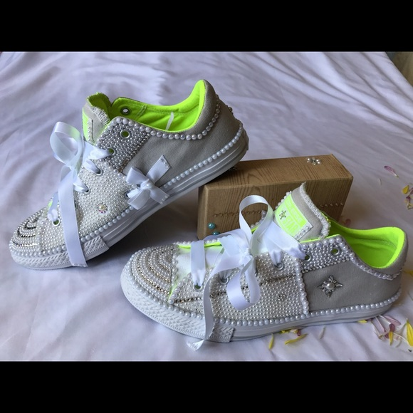 Converse  Converse Hand Decorated Swarovski And Ab Pearls. Cool Room Lights. Checkered Flag Decorations. Laundry Room Design Ideas. Halloween Decorations Stores. Dorm Room Bunk Beds. Country Style Dining Room Table Sets. Living Room Wall Unit. Kmart Living Room Furniture