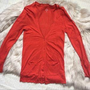J. Crew Linen Cardigan Sweater