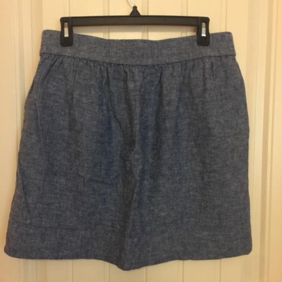71 loft dresses skirts loft chambray denim skirt