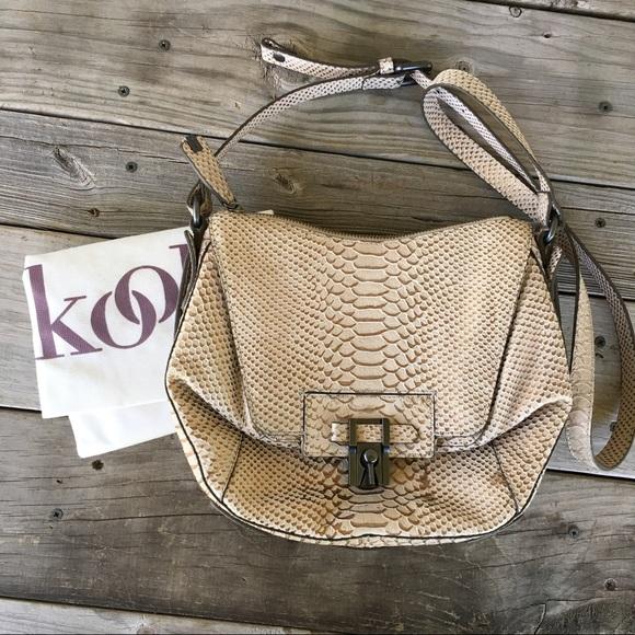 8998bafad9 Kooba Handbags - Kooba Gabby Crossbody Bag Bronze Snake