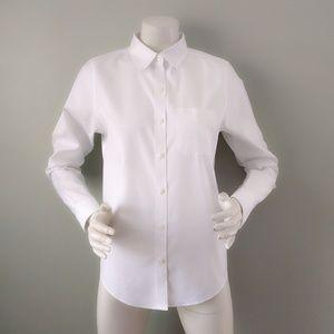 NWT LL Bean Classic White Button Down Shirt XS