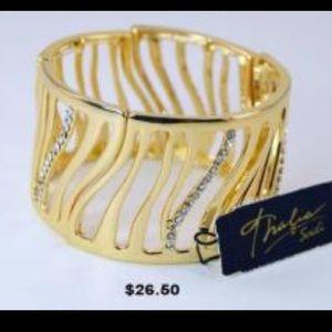 Thalia Sodi Jewelry - Thalia Gold Pave Tiger Stretch Bracelet