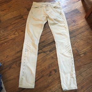 Blank NYC Acid washed cut out jeans worn once