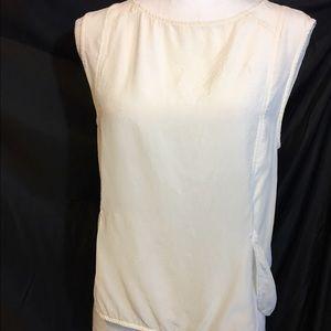 Amanda Uprichard Tops - AMANDA UPRICHARD White Silk Sleeveless Blouse