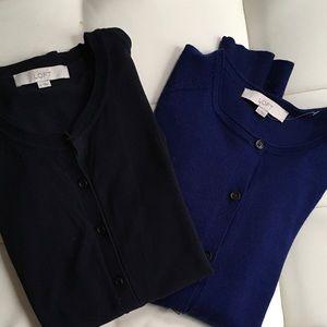 LOFT Sweaters - Blue LOFT cardigan bundle