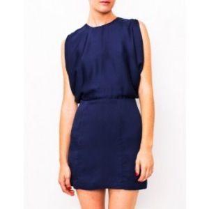 Wren Dresses & Skirts - Wren silk navy dress