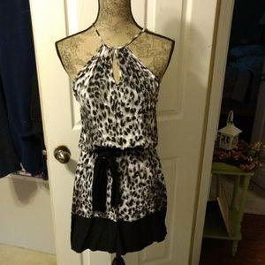 Dots Leopard Print Dress