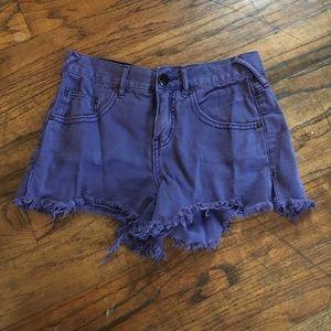Free people purple Jean shorts