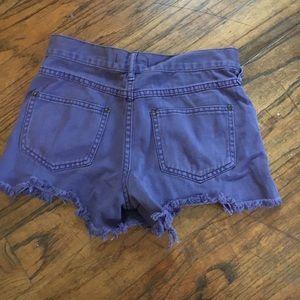 Free People Shorts - Free people purple Jean shorts