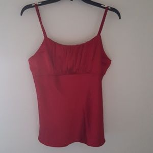 Tops - Satiny Red Camisole Size XL