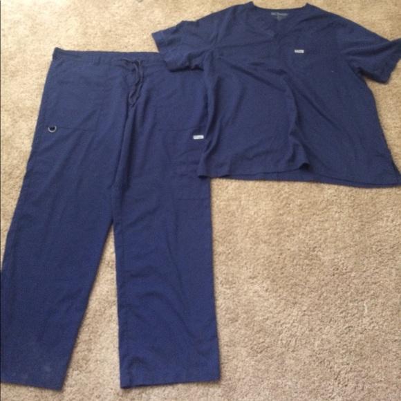 b98acc1816e grey's Anatomy Pants | Greys Anatomy Navy Blue Xl Twopiece Scrub Set ...