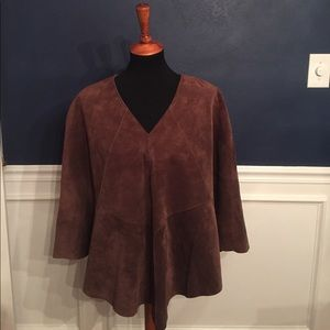 INC International Concepts Other - Brown Leather Poncho - Size Small/Medium