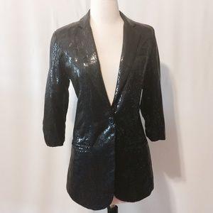 Gracia Jackets & Blazers - Gracia Black Sequin Jacket