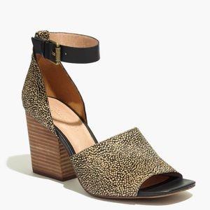 Madewell Shoes - Madewell Alena sandal in dotted calf hair NIB