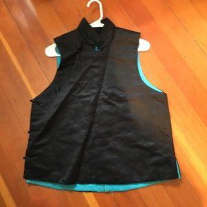 Chinese Black Silk Vest