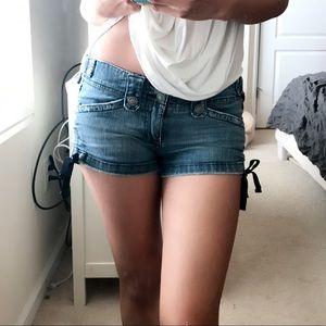 Hydraulic Pants - Hydraulic tie side jeans shorts