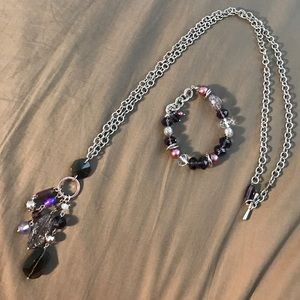Lia Sophia Jewelry - Lia Sophia necklace and bracelet set purple silver