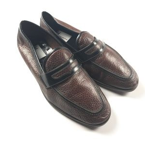 Moreschi Other - Size 7.5 Moreschi Brass Boot Leather Penny Loafers
