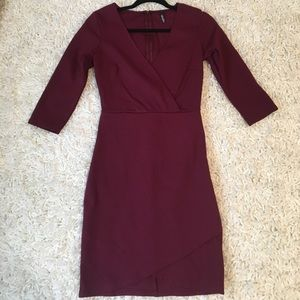 NEW !!! Lulu's Wine mini dress