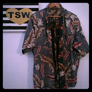 NORMAN JAMES MENS HAWAIIAN SHIRT XL