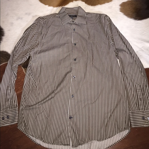 86 off banana republic other banana republic brown and for White shirt brown buttons