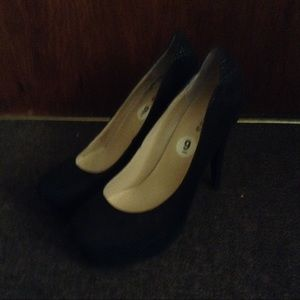 Guess Shoes - Black Velvet Heels