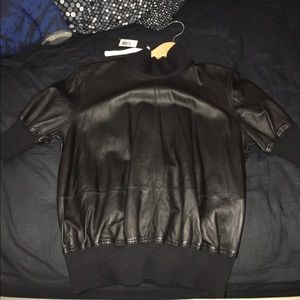 Diesel Black Gold Tops - Leather shirt Diesel Black Gold