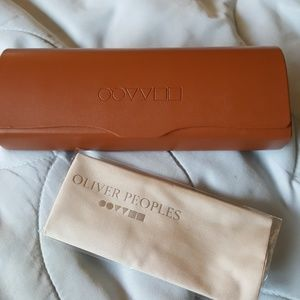 Oliver Peoples Accessories - Oliver Peoples hardcase for glasses w/dustcloth