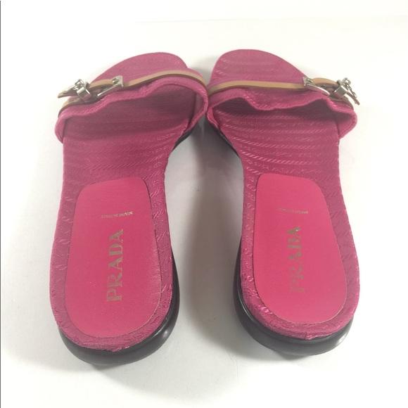 60 prada shoes authentic prada pink slides sandals