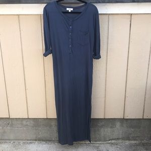 LNA Dresses & Skirts - LNA SZ S BLUE COTTON SOFT DRESS LONG MAXI