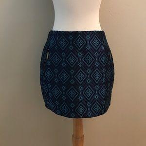 Love Riche Dresses & Skirts - Love Riche boutique blue diamond woven skirt S