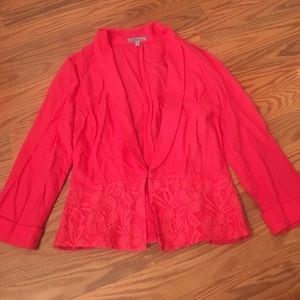 Charlotte Russe pink light weight Blazer w lace S