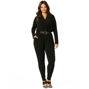 Michael Kors Pants - New! MICHAEL KORS Plus Size Belted Black Jumpsuit