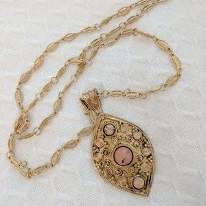 Leslie Dale Jewelry - NWT Leslie Dale pendant necklace in bronze + blush
