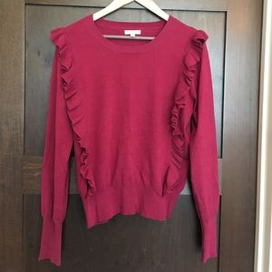 Abound Sweaters - Abound Pink Sweater with Ruffle Detail