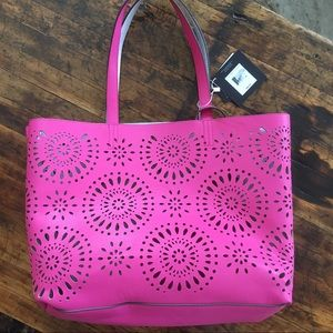57% off Echo Handbags - Pink terry cloth echo beach bag! from ...